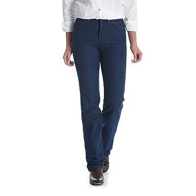 b85bfbb20d Wrangler Women's Cowboy Cut Slim Fit Natural Waist Jean, Prewash, 00x34