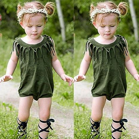3b421d5b4 Amazon.com  Sunbona Infant Newborn Baby Boys Girls Solid Tassel ...