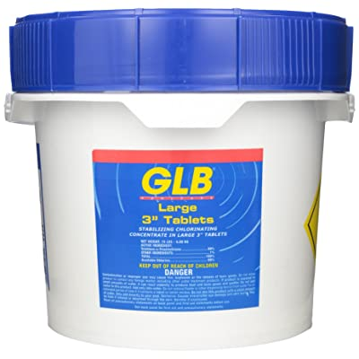 GLB 71232A 3-Inch Chlorine Sanitizing Tablets, 15-Pound, Large : Swimming Pool Chlorine : Garden & Outdoor