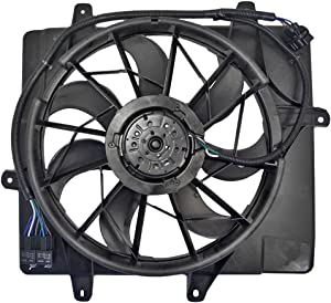 Radiator Cooling Fan Motor with 4 Pin Connector Assembly Replacement for 06-10 Chrysler PT Cruiser 5179470AA