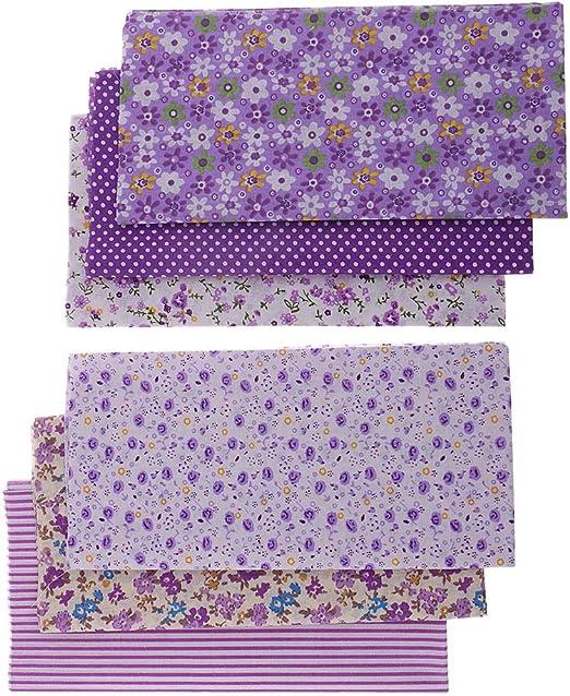 non-brand 6 Piezas Tela de Algodón para Patchwork Tejido Estampado Floral, Adorables Pequeños, 50 x 50 cm: Amazon.es: Hogar