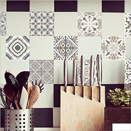 Amazon Pack Of 40cm40pcs Classical European Style Self Amazing Adhesive Decorative Wall Tile