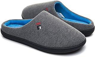 Foottech Homme Pantoufle Chaussons Hiver Peluche Douce Chaud Coton Pantoufles Douillet Accueil Slippers Chaussures