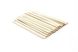 Fox Run Bamboo BBQ Appetizer Shish Kebab Skewers, 6-Inches, Set of 100