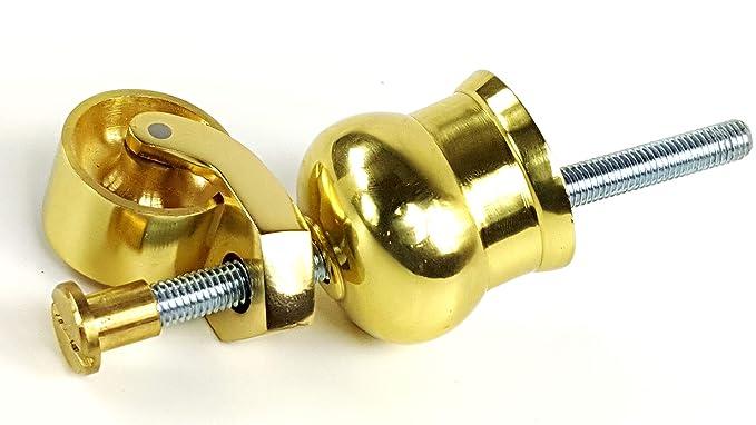 4 x rueda de latón con llaves de vaso de caldero de bruja con ruedas,