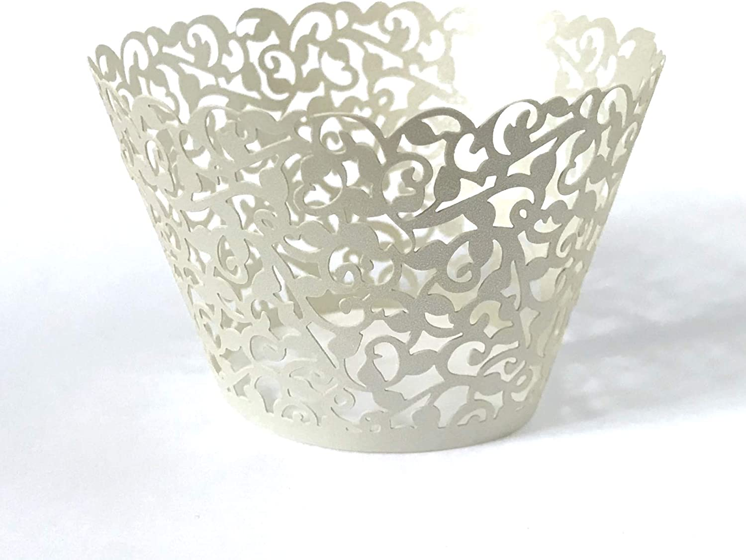12 pcs Graduation Yellow Filigree Lace Wedding Filigree Cupcake Liners Liner Baking Cup Cupcake Wrapper Wrappers