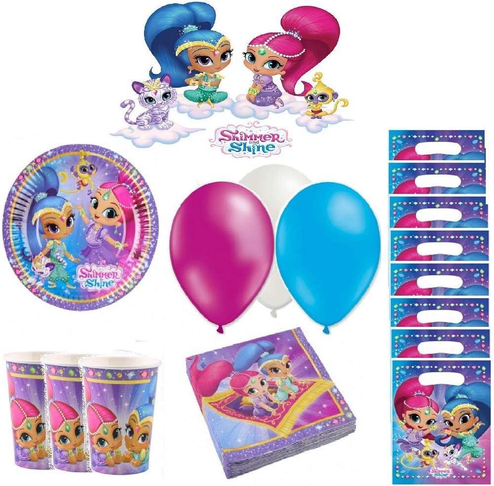 Kit de cumpleaños Shimmer y Shine 8 Personas: Amazon.es: Juguetes ...
