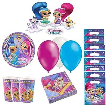 Kit de cumpleaños Shimmer y Shine 8 Personas: Amazon.es ...