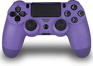 Wireless Controller for PS4- Foster Gadgets PS4 Remote Joystick for Sony Playstation 4 with Charging Cable (Electric Purple, 2019 New Model