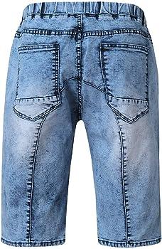 Pantalones Cortos Vaquero Hombre Verano Casual Moda Trabajo Corta ...