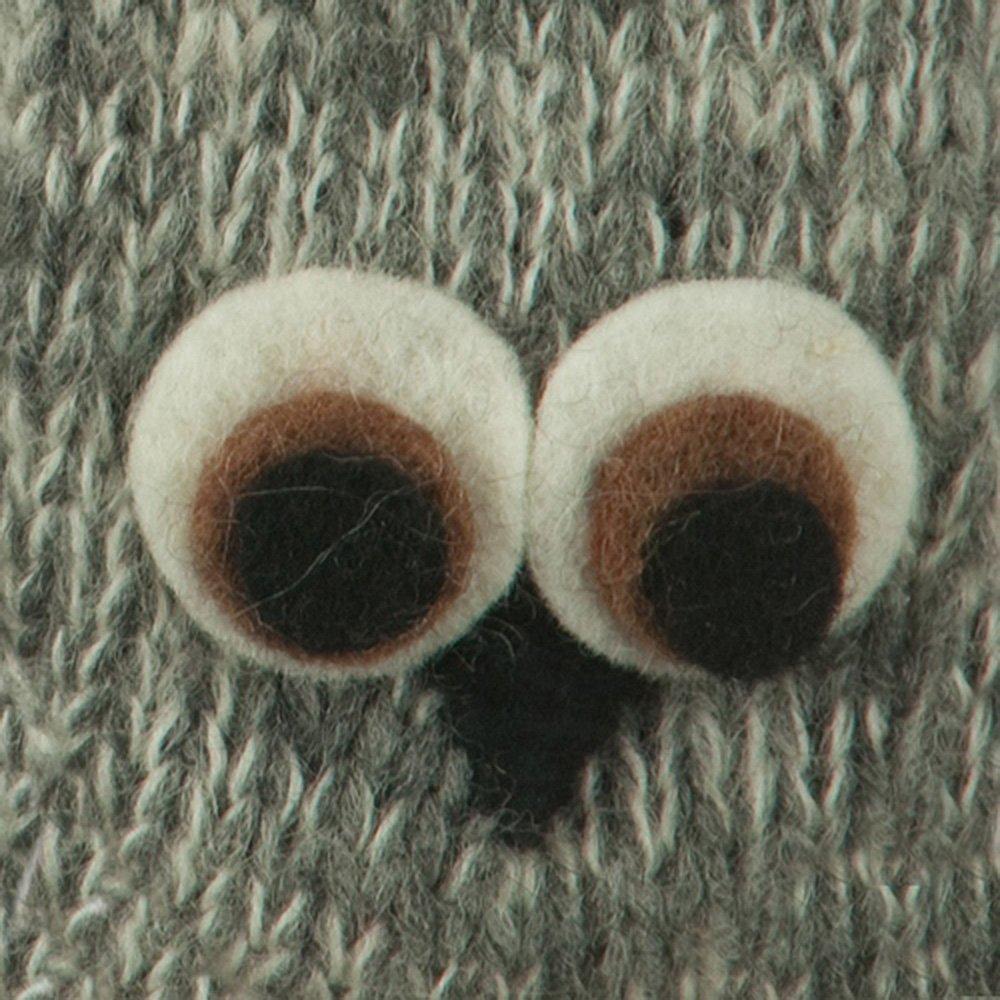 Child Animal Wool Mitten Owl W20S16B