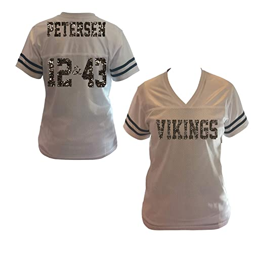 fdc88c20e1ce26 Amazon.com  2 Player Number Glitter Jersey Shirt for Women
