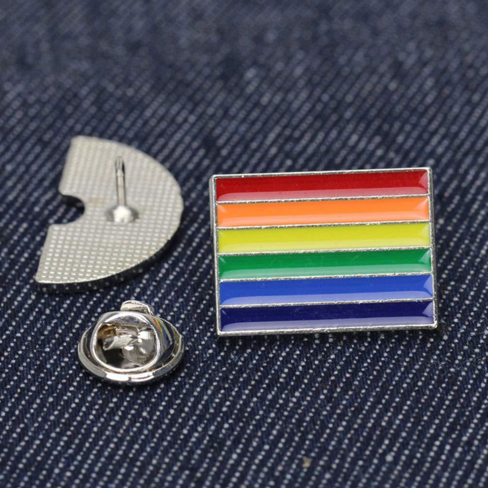 en 4 en Femme LGBT fi/ère Accessoires Ciel Broche NUOBESTY Arc 4 Ciel /émail /à col renvers/é Drapeau Arc