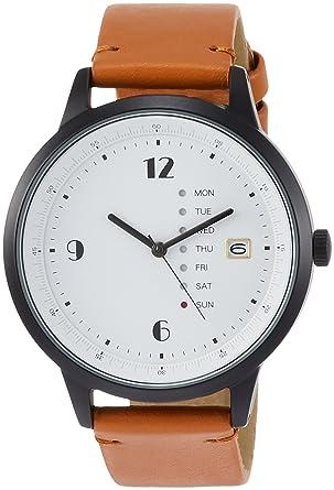 02ce6ae9d3 Amazon | [フィールドワーク]Fieldwork 腕時計 ファッションウォッチ グラモン アナログ カレンダー 革ベルト ブラウン  QKD052-3 | 腕時計 | 腕時計 通販