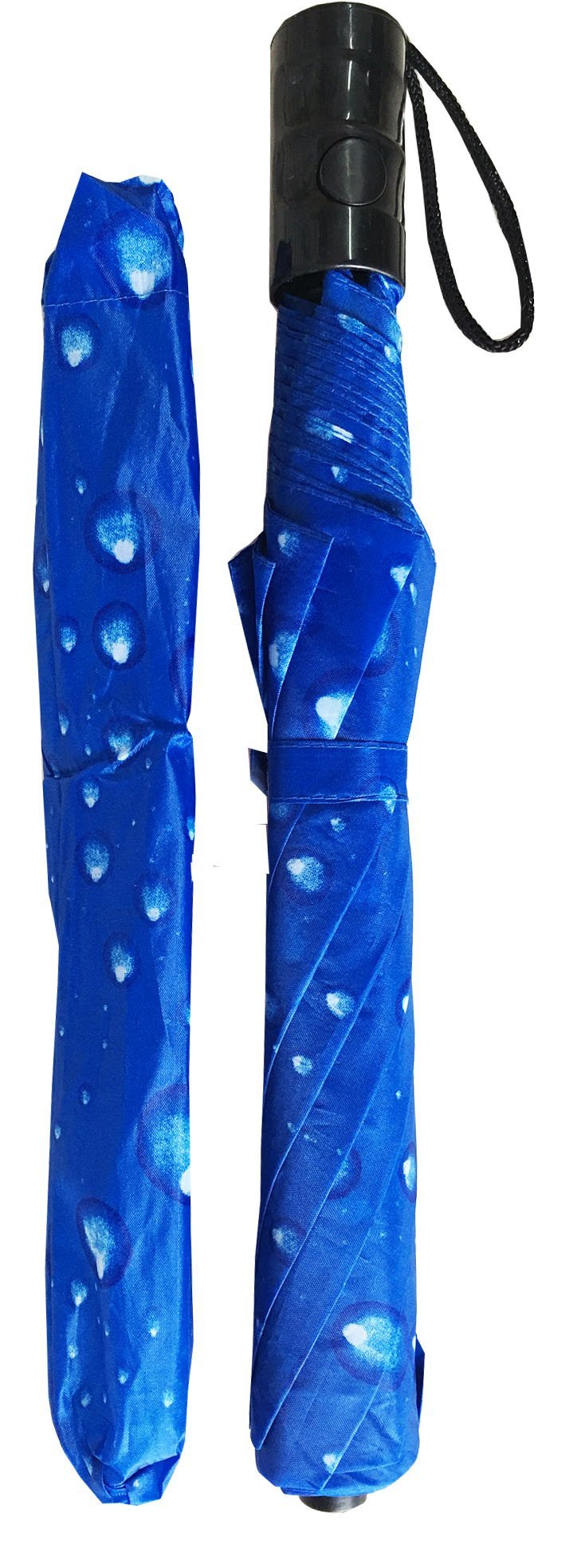 Automatic Folding compact umbrella (blue) by Conch umbrellas (Image #3)
