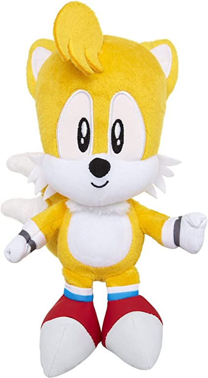 Amazon Com Sonic The Hedgehog 7 Tails Plush Figure Toys Games