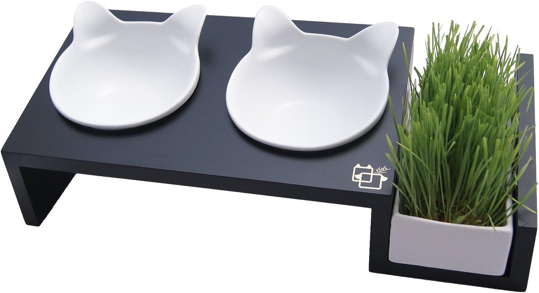 ViviPet Gato Mesa de Comedor – 15 ° Inclinado Plataforma Pet ...