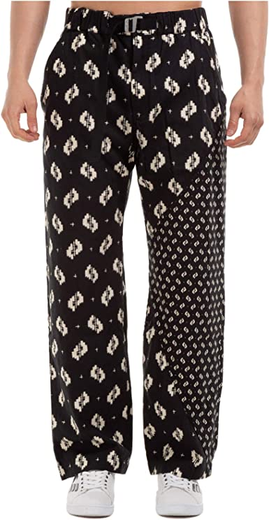Kenzo Black Trousers With White Ikat Print At Amazon Men S Clothing Store