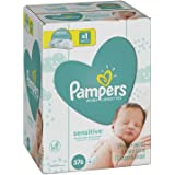 Pampers Sensitive Water-Based Baby Diaper Wipes, 9 Refill Packs for Dispenser Tub - Hypoallergenic and Unscented - 576 Count (2 Pack)