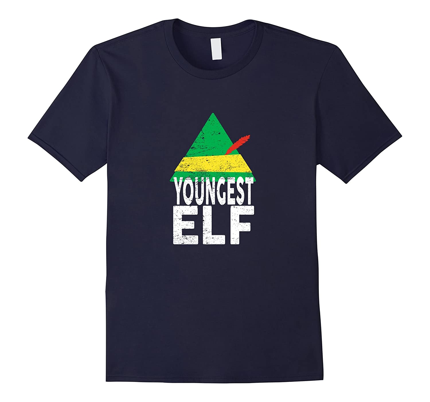 Youngest ELF Christmas Season Matching Pajamas Funny Tshirt-ANZ