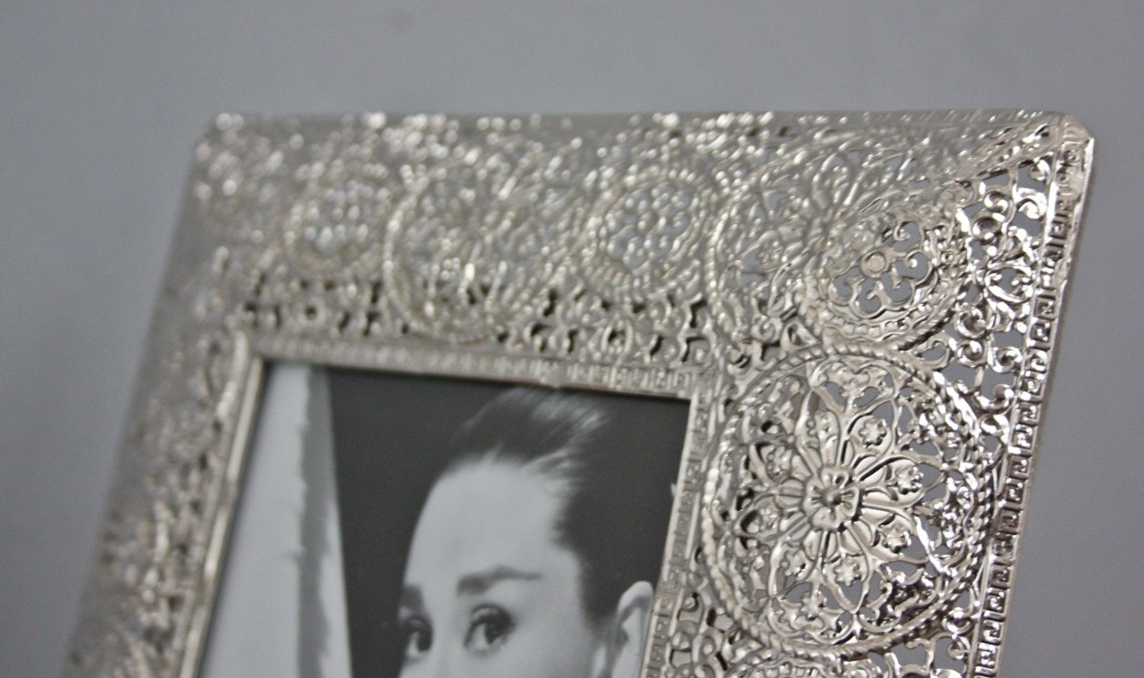 elbmöbel Bilderrahmen Metall silber Orientalisch antik Rahmen ...
