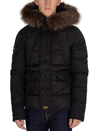 467e7963eeafce Superdry Men's Chinook Parka Jacket, Black at Amazon Men's Clothing ...