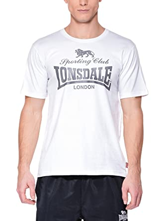 Lonsdale Camiseta Sporting Club Blanco S (UK XS): Amazon.es: Ropa y accesorios