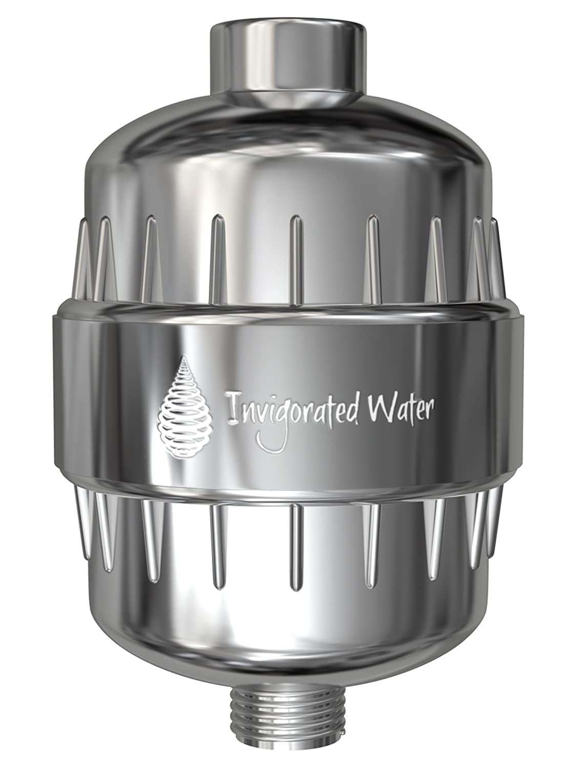 pH Energize Multi-Stage Shower Filter – Filters Chlorine, Chloramine, Fluoride, Heavy Metals, Bacteria & Viruses – Softens Hard Water – Increases pH & ORP – Easy Installation - Fits Any Shower Head Invigorated Living
