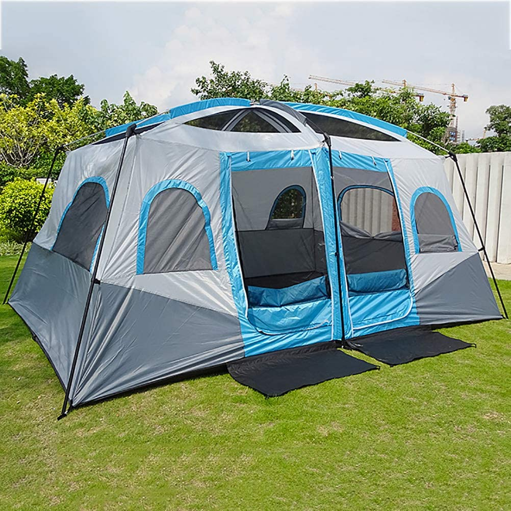 US 8-10 People Camping Tent Waterproof Hiking Outdoor Party Family Beach Shelter