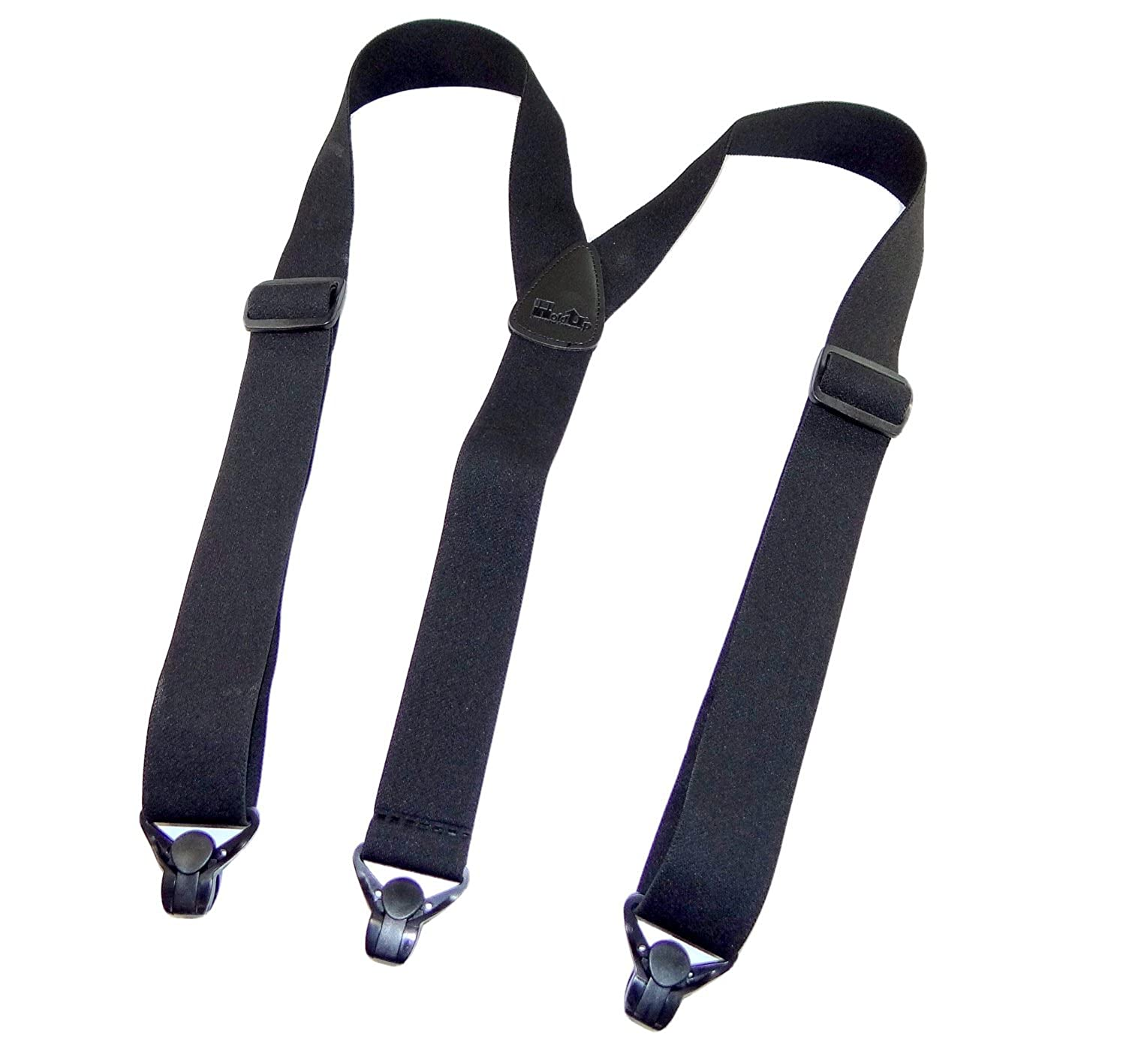No-buzz Airport Friendly Black Suspenders Y-back Style with Patented Gripper Clasps Hold-Up Suspender Co. 7506YP