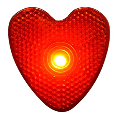 blinkee LED Blinking Red Heart Reflector Clip: Toys & Games