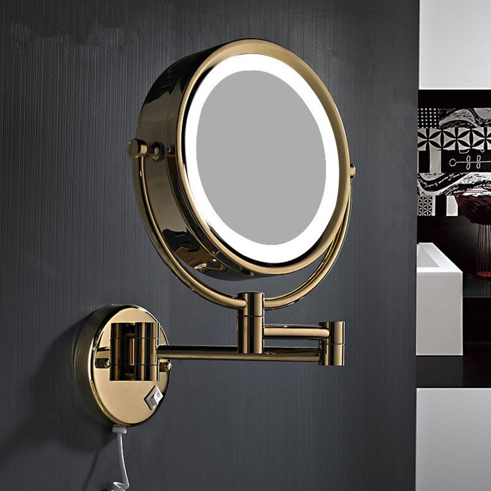 LIGHTledMirror/Continental telescopic folding double-sided beauty mirror/Mirror child/Bathroom mirror-B