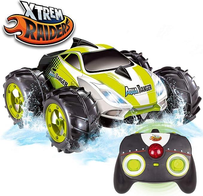 Xtrem Raiders Aqua Ranger, Niño Y Niña, Coches Teledirigidos para Niños, Radio Control RC, Anfibio, Gira 360º, Ruedas Off-Road, Regalos Divertidos ...