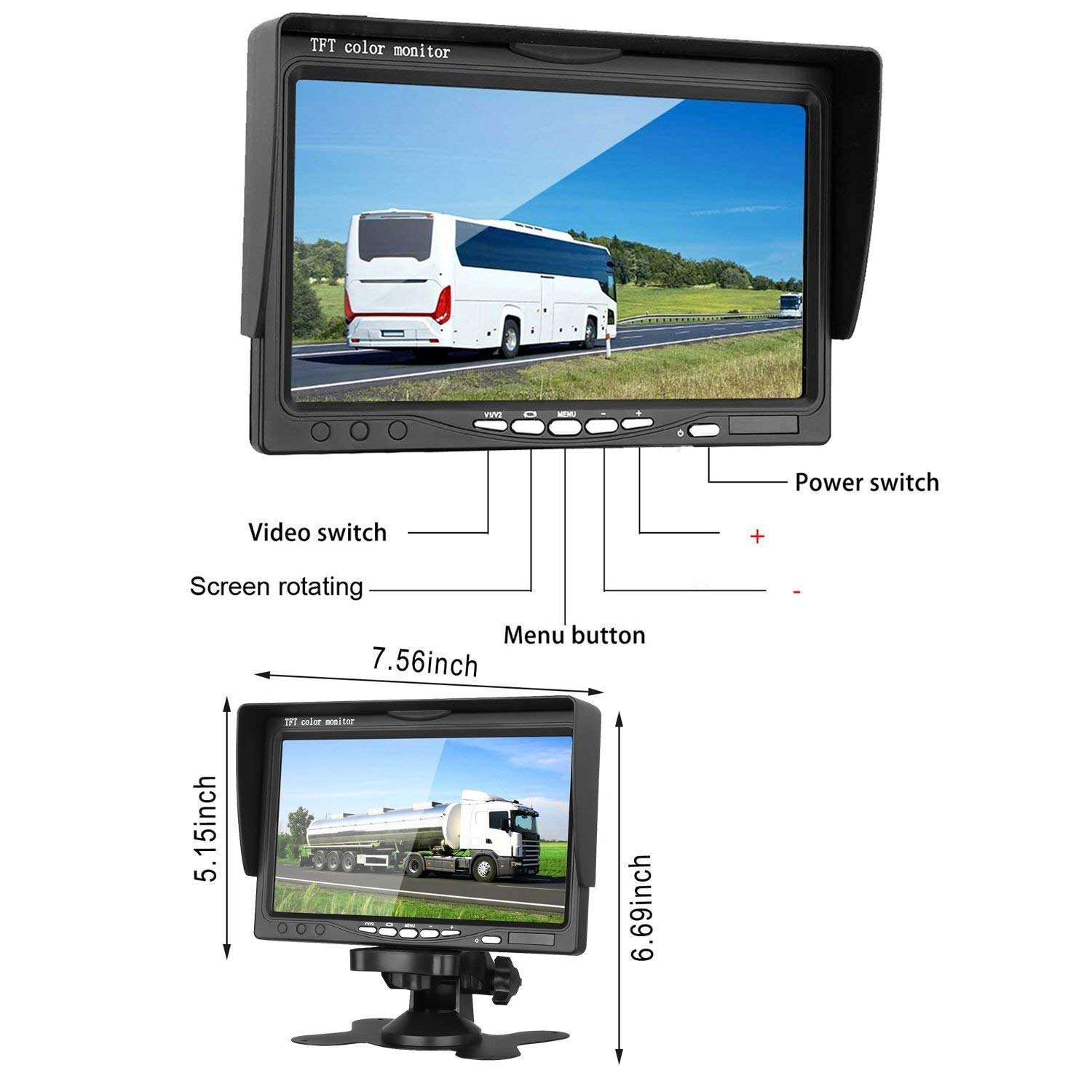 524A Right Side Mount Camera Dual Side Mount Cameras with Side Marker LED L/&R Blinkers Built in Rear View Backup Parking Camera for MB Transporter Mercedes Sprinter 324H //524H //324A