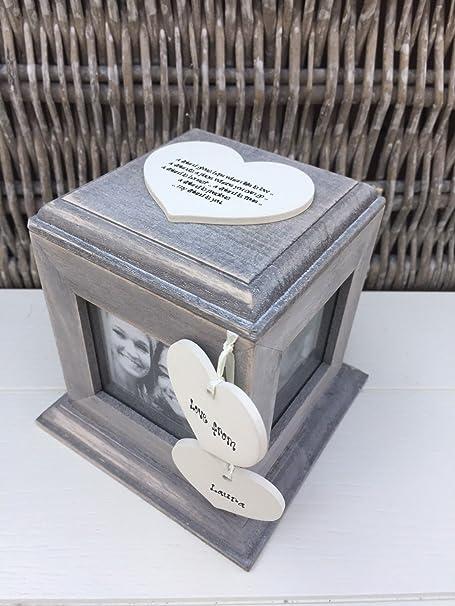 Shabby Chic estilo personalizado caja cubo de madera rústico de fotos de regalo especial mejor amigo amistad cualquier nombre cumpleaños ~ Navidad regalo presente: Amazon.es: Hogar