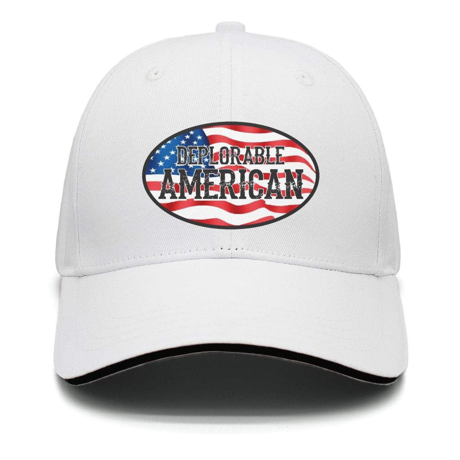 DEPLORABLE AMERICAN Trump Unisex Snap Backs Cap For Mens Or Womens