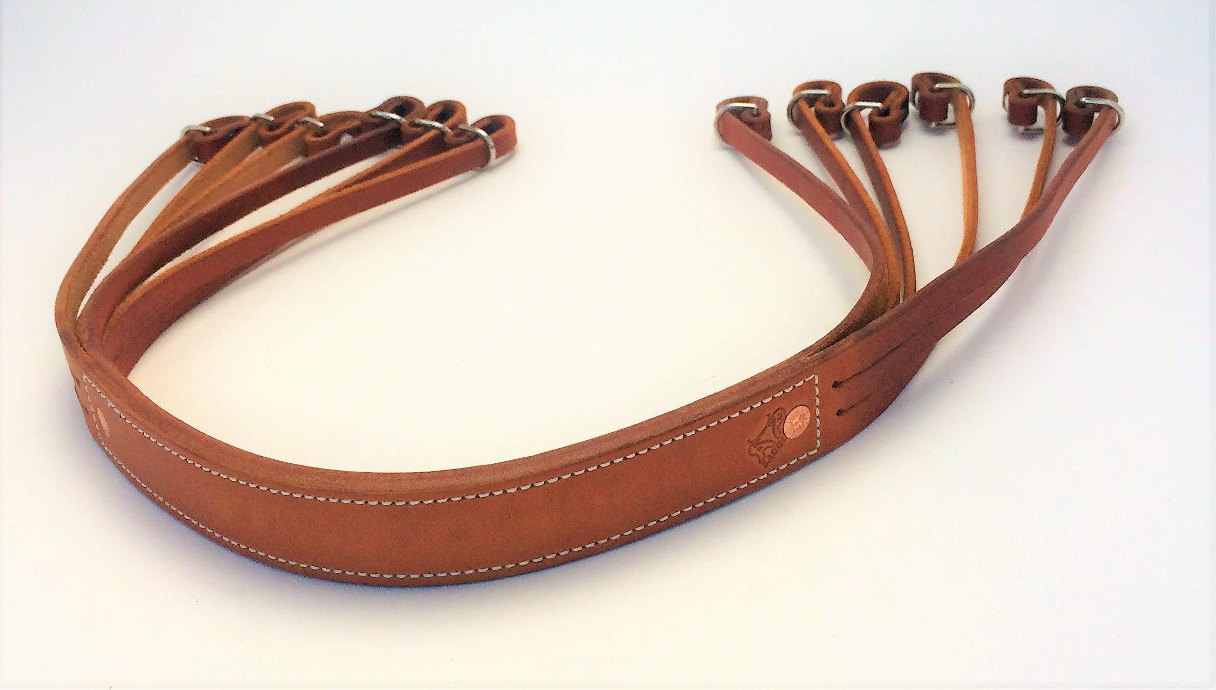 AP Saddlery Low Profile Leather Duck Strap (Saddle Tan)