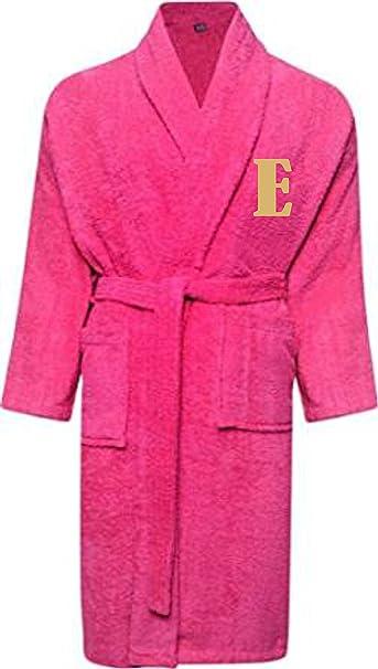 Albornoz de Little Big Babies, personalizable, con nombre e iniciales bordadas en hilo dorado, color rosa Rosa rosa 3-4Años: Amazon.es: Ropa y accesorios