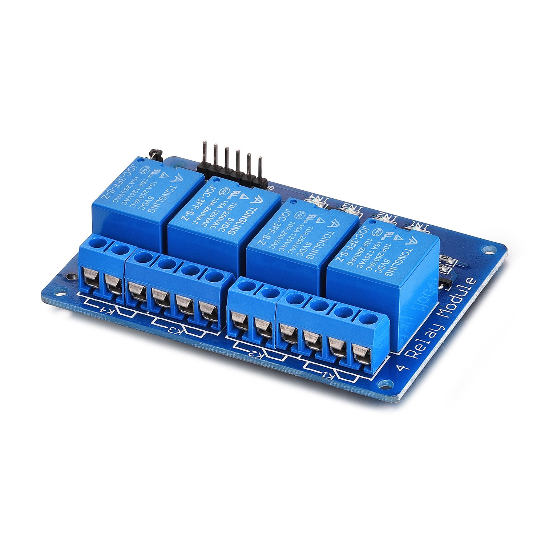 4 Kanal Yizhet 5V 4 Kanal Relais Modul DC5V 230V Relais Optokoppler 4 Channel Relay Relais Raspberry Pi Relais Arduino f/ür Arduino TTL Logik PIC DSP AVR ARM Relais Modul