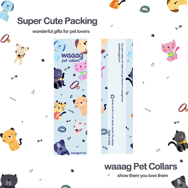 waaag Pet Collar Mermaid Scales Dog Collar Cat Collar Super Cute Multiple Designs Green, M 14-20 Neck