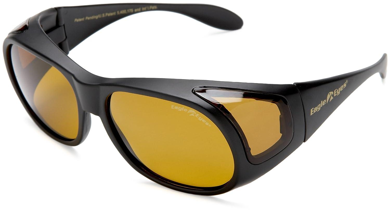 b3fafabfd3 Amazon.com  Eagle Eyes FitOns Polarized Sunglasses - Black Matte  Clothing