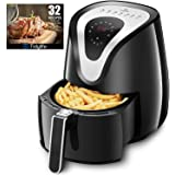 Tidylife 4.2 QT Air Fryer, 8-in-1 Oil Free 7 Presets Touchscreen Hot Air fryer Oven, Auto Shut Off & 0-60 Mins Timer, 180-400 ℉,1500W, Dishwasher Safe, Black Fryer (Over 32 Recipes)