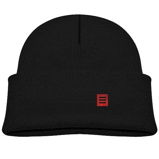 44ac50164 Amazon.com: Shijingshan Tesla Model 3 Red Logo Kid's Hat Winter Knit ...