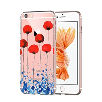 Caler - Carcasa iPhone 6s/6, Transparente Ultrafina Funda ...