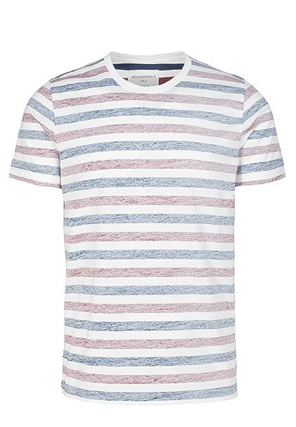 Armed Angels – Camiseta para hombre (algodón orgánico, – Dean Inside Stripe – Comercio