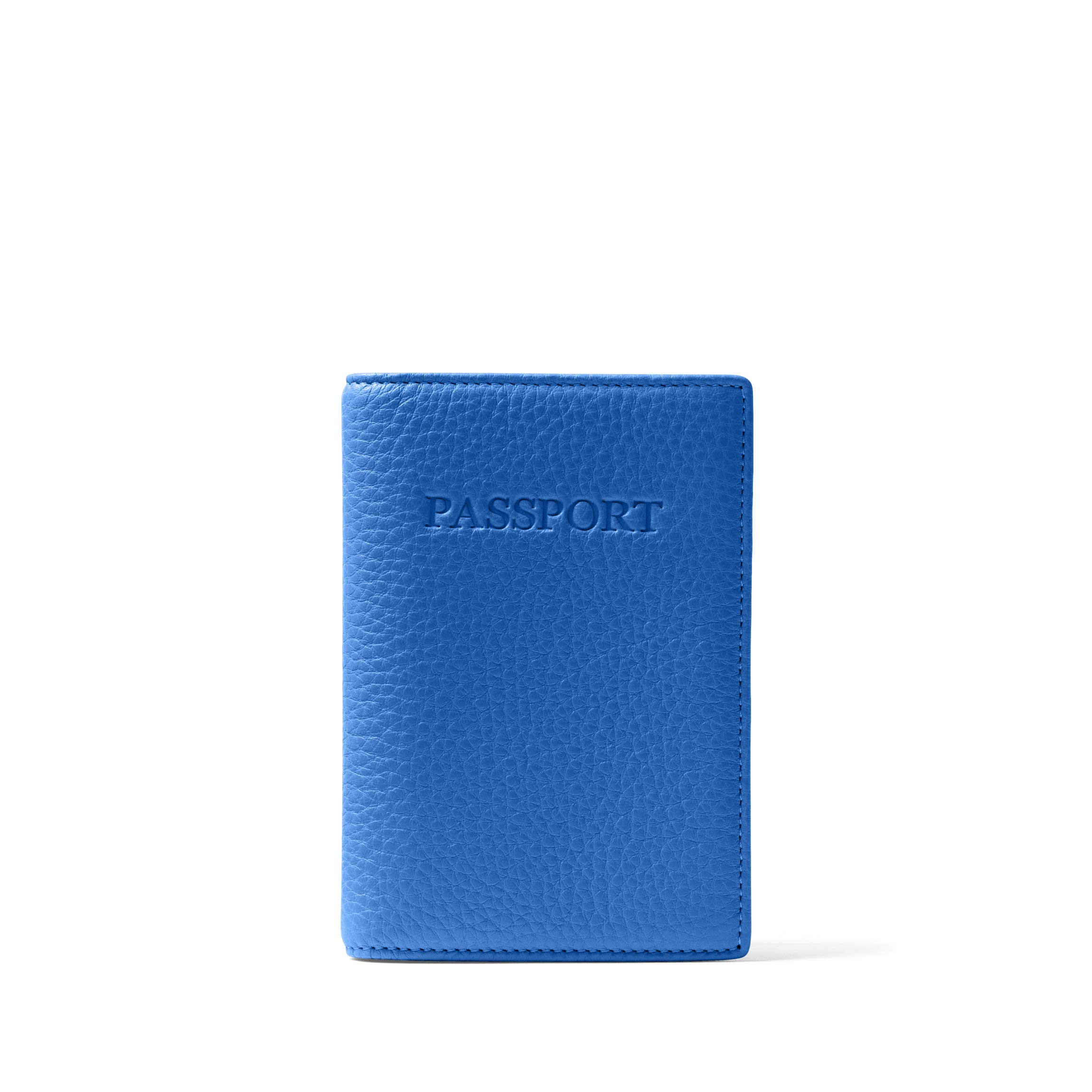 Standard Passport Cover - Full Grain Leather - Cobalt (blue)