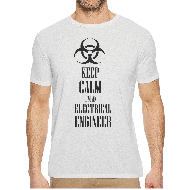 Qqppgg Keep Calm Im An Electrical Engineer Mens Short Sleeve Cozy Shirt