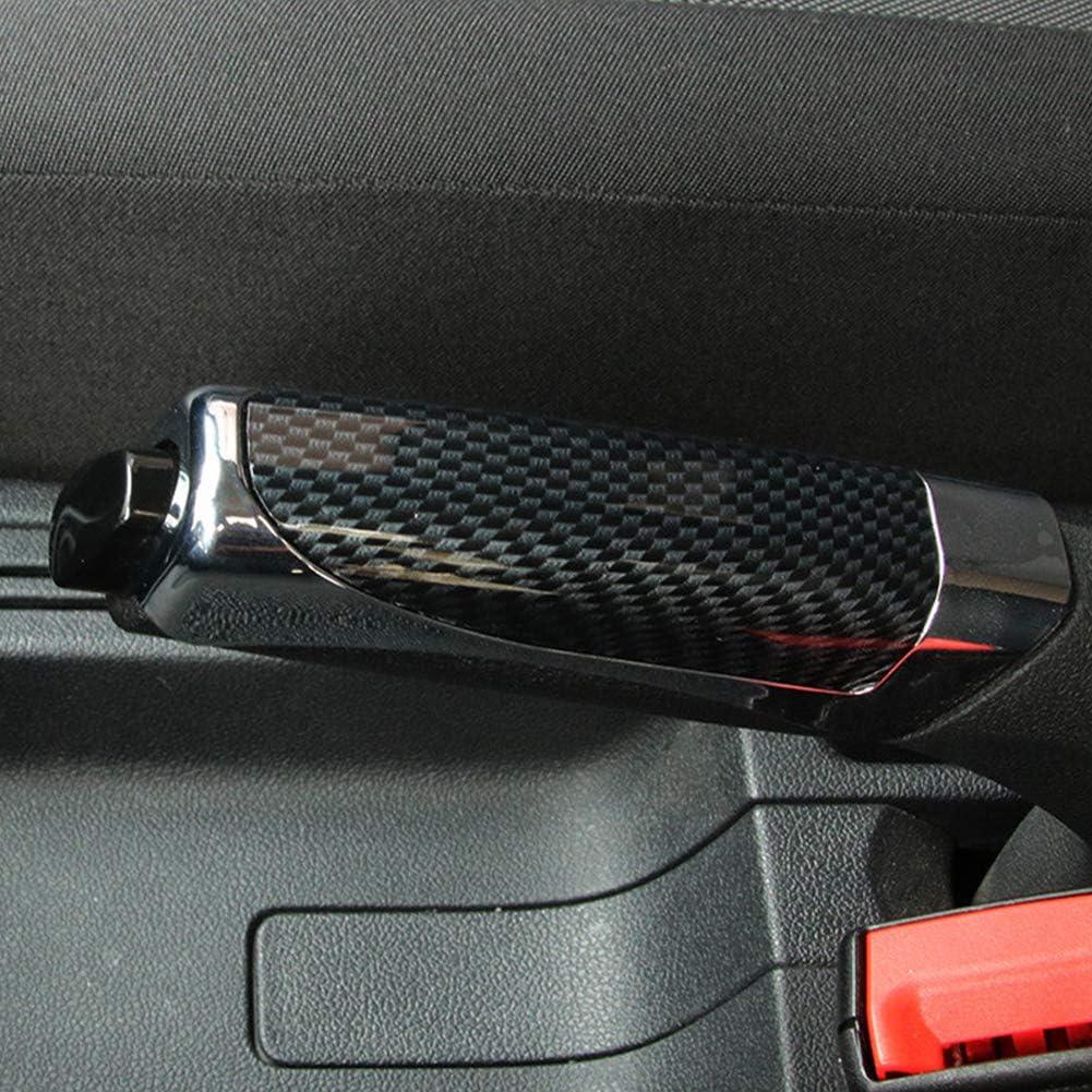 Coche Universal del Freno de Mano Marca Abs Suave c/ómodo de Fibra de Carbono Estilo Protector de la decoraci/ón de la Cubierta de Accesorios SUV