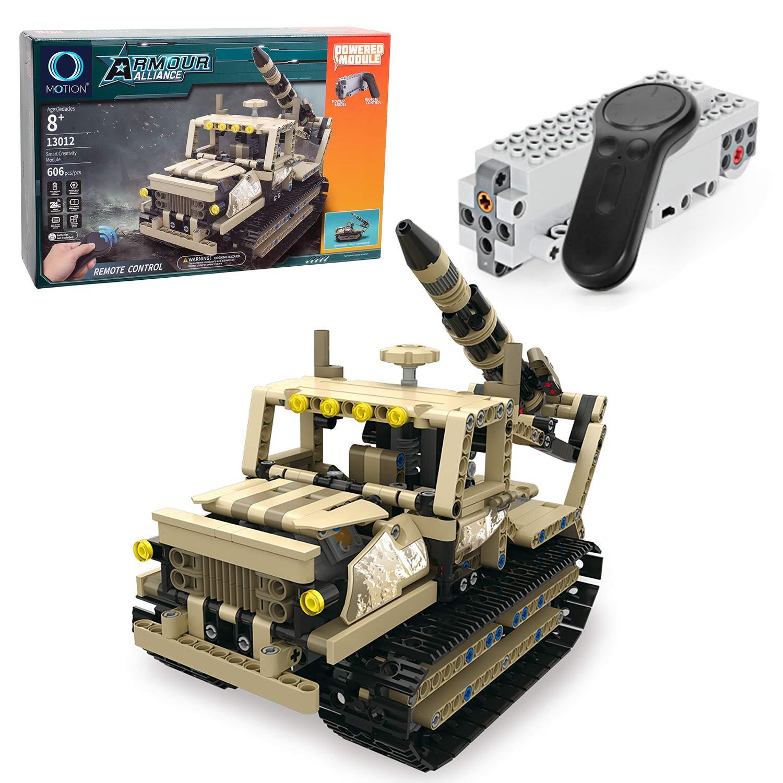 MOTION Kids Toys Educational Remote Control Building Bricks kit (Military Rocket Truck)