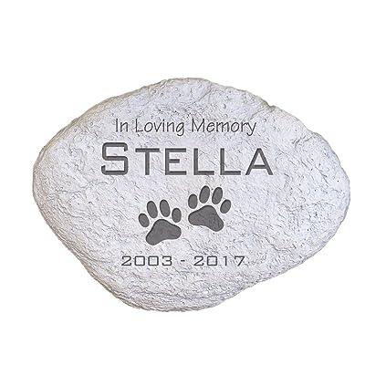 """GiftsForYouNow Engraved Pet Memorial Garden Stone, 11"""" W, Durable, Waterproof, Indoor/Outdoor : Garden & Outdoor"""